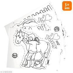 Kit plastique dingue - Porte-clé Poney - 4 pcs
