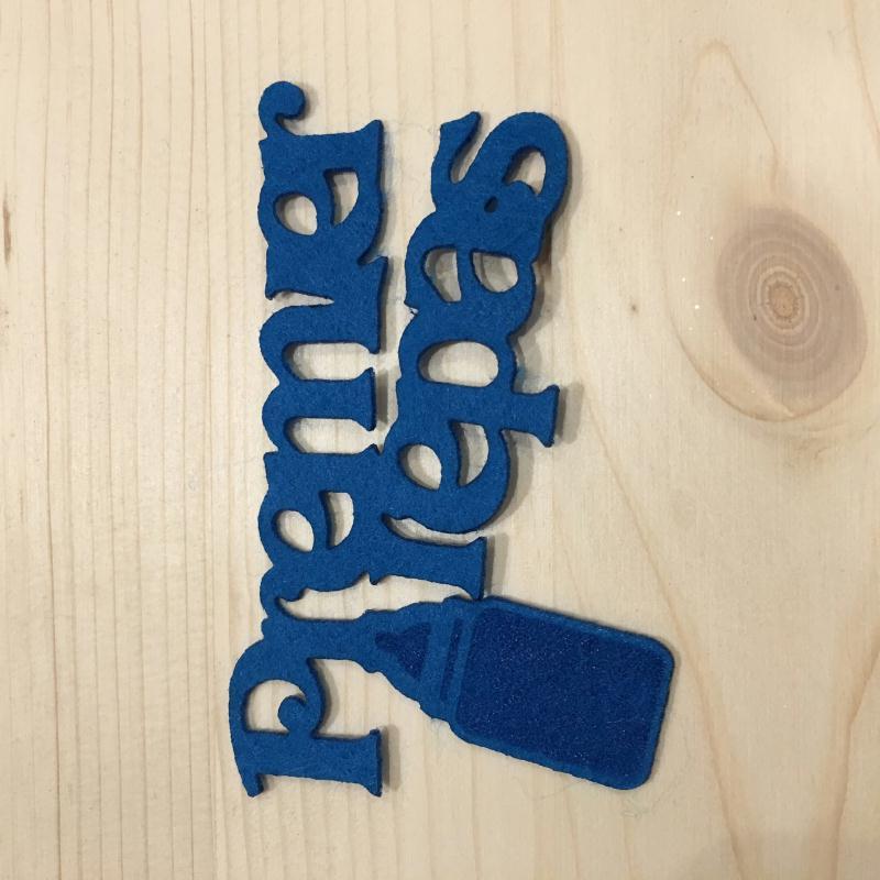 a scrapper ou d corer d coupe de mot en feutrine premiers repas bleu formes en feutrine creavea. Black Bedroom Furniture Sets. Home Design Ideas
