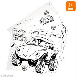 Kit plastique dingue - Porte-clé Voiture - 4 pcs