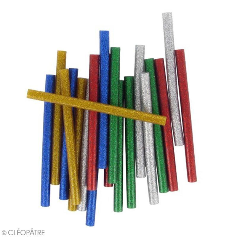 Bâtonnets peinture 3D Cléo'stick - 5 couleurs pailletées - 20 pcs - Photo n°2