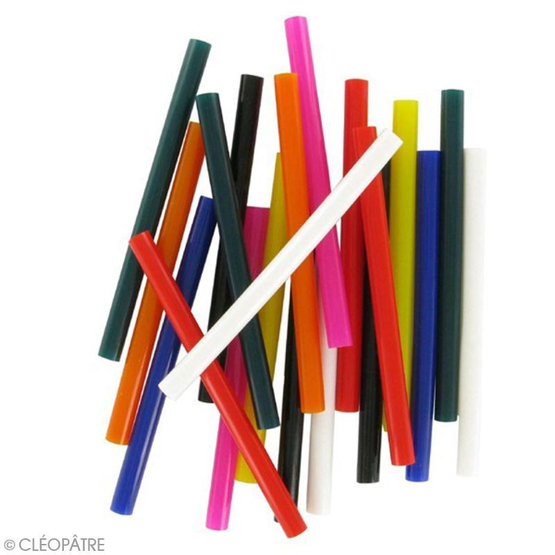Bâtonnets peinture 3D Cléo'stick - 8 couleurs flashy - 20 pcs - Photo n°2