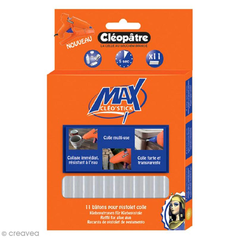 Bâton de colle Cléopâtre Cléo'stick Max - tous supports - 11 pcs - Photo n°1