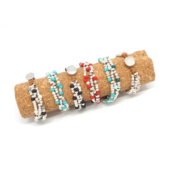 Pour bracelet et vos decoration bijoux 3 Perle Main en Bois Couleurs disponible