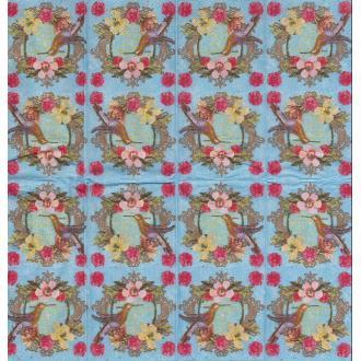 4 Mouchoirs en papier Colibri Fleurs Asie