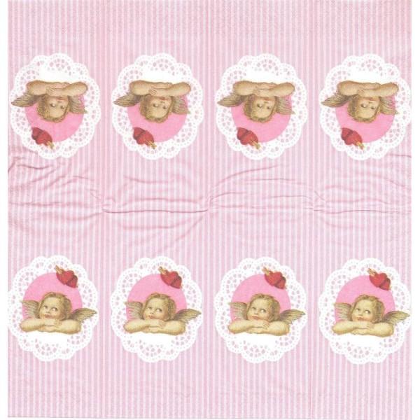 4 Mouchoirs en papier Chérubin Ange Raphael dentelle - Photo n°1
