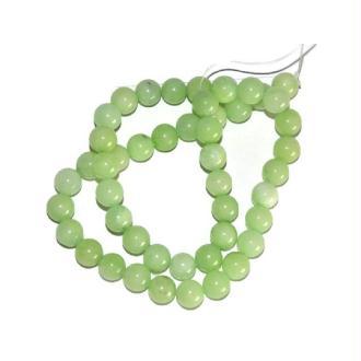 47 Perles Jade Naturelles Vert Pomme 8mm