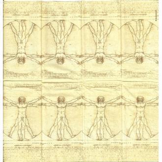 4 Mouchoirs en papier Homme de Vitruve Léonard de Vinci