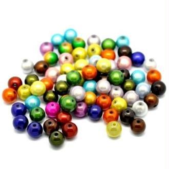 50 Mixte Perles Magique miracle Acrylique Multicolore Ronde 10 mm