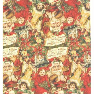 4 Mouchoirs en papier Père Noël Vintage