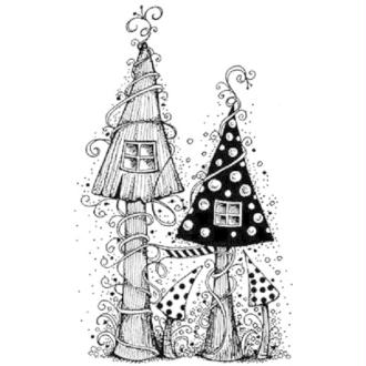Tampon clear Lavinia Stamps - Fairy house