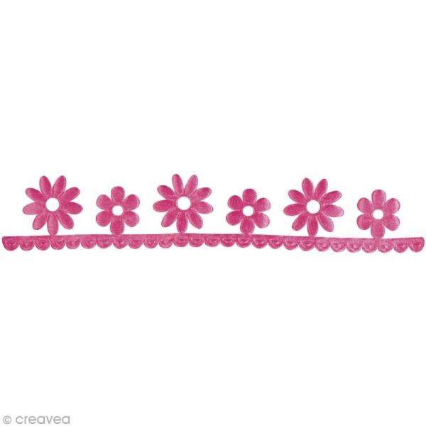 Ruban déco adhésif perforé - Fleurs roses - 3 cm x 2 m - Photo n°2
