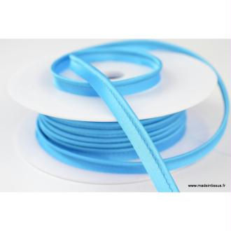 Passepoil satin 10 mm coloris Bleu Turquoise 1140