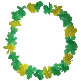 Collier à fleurs brésilien jaune-vert