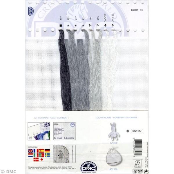 Kit point de croix - Tableau prénom gris - 25 x 20 cm - Photo n°2