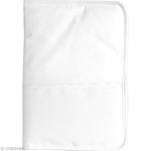 Protège carnet de santé à broder au point de croix - Ivoire - 18 x 25 cm - Support à broder ...