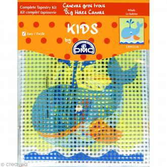 Kit canevas pour enfant - La baleine