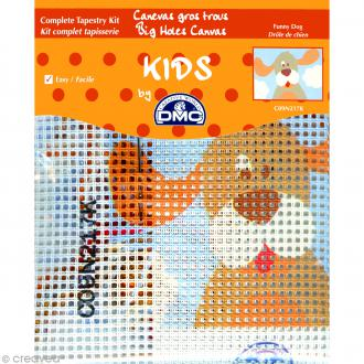 Kit canevas pour enfant - Drole de chien