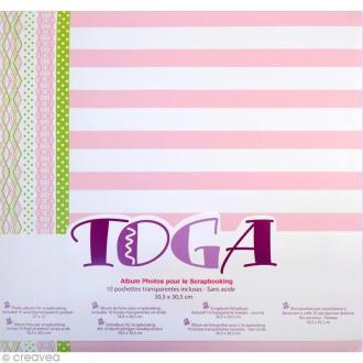 Album scrapbooking Toga - Rose et vert - 30,5 x 30,5 cm