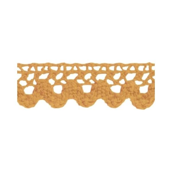Ruban de dentelle en tissu adhésif - Mangue - Photo n°1