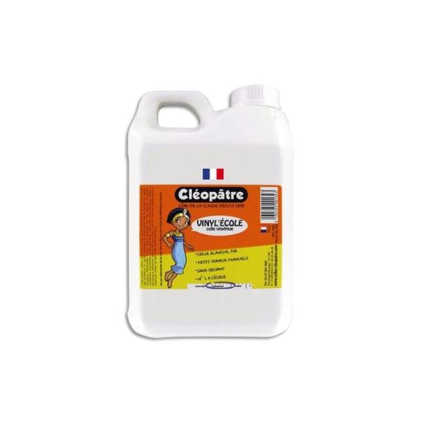 CLEOPATRE Colle blanche vinylique - Bidon de 5 litres de colle blanche - Photo n°1
