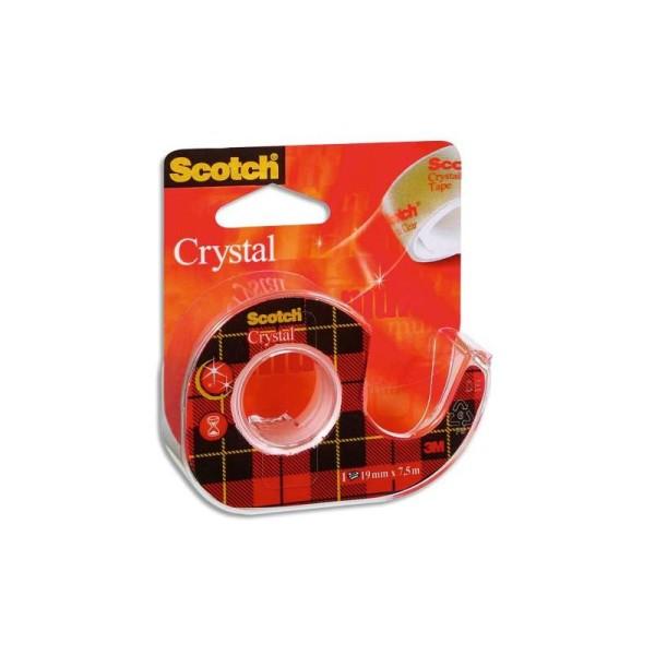 Ruban adhésif transparent Scotch 550 19mmx7,5m sur dévidoir - Photo n°1