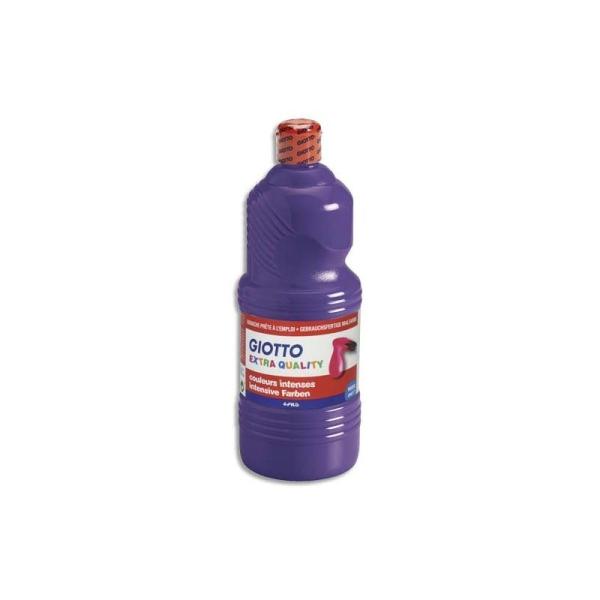 Gouache scolaire Giotto flacon 1 litre liquide couleur violette - Photo n°1