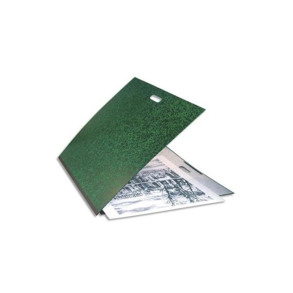 EXACOMPTA Carton à dessin vert avec poignée et élastique 59 x 72 cm - Photo n°1