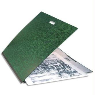 EXACOMPTA Carton à dessin vert avec poignée et élastique 59 x 72 cm