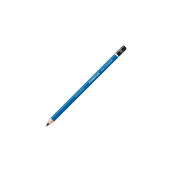 Crayon graphite tête trempée mine 6B Staedtler LUMOGRAPH 100 - Photo n°1