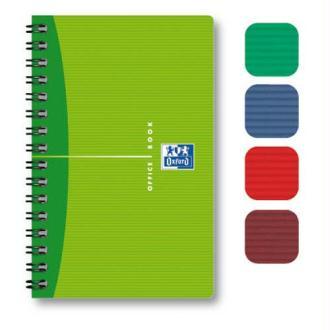 Carnet 9x14cm 100 pages petits carreaux spirales couverture souple gamme Oxford Office