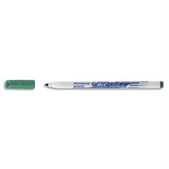 Feutre effaçable Bic Velleda 1721 à sec pour tableaux blancs pointe fine encre alcool verte