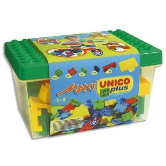 Boîte de 48 maxi briques de construction très qualitatives en plastique rigide couleurs assorties