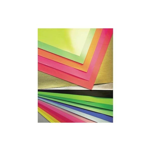 Papier affiche Clairefontaine paquet de 25 feuilles format 60x80cm 75 grammes couleur bleu - Photo n°1