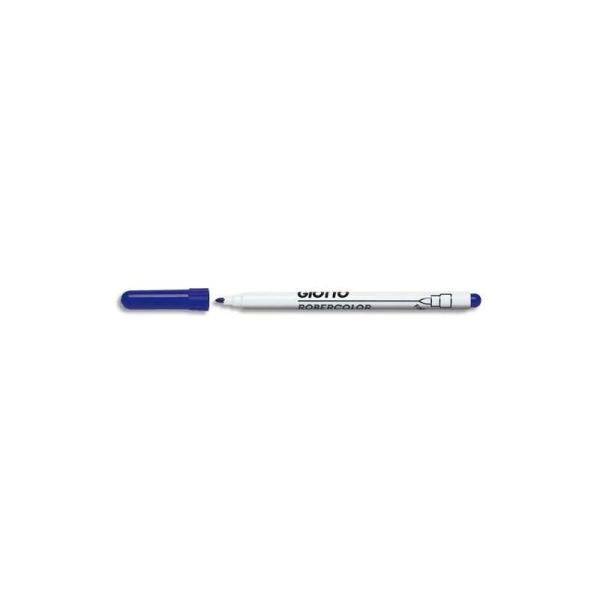 Feutre effaçable Giotto 2,7mm à sec pointe ogive fine 2,7mm bleu vendu en boîte de 12 - Photo n°1