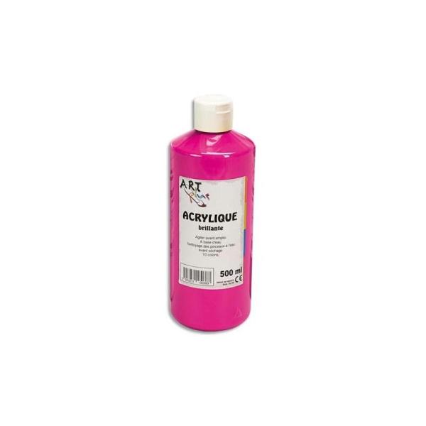 Gouache acrylique Art Plus brillante couleur rouge primaire flacon 500 ml - Photo n°1