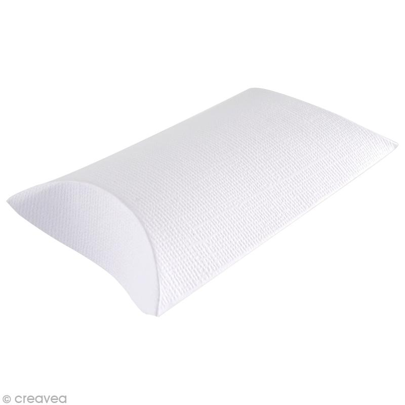 Boîte cadeau à décorer 6 x 8 cm - blanc - 6 pcs - Photo n°1