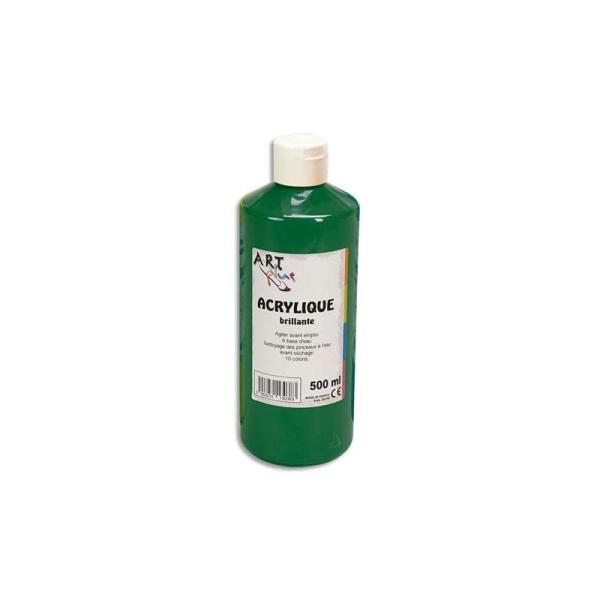 Gouache acrylique Art Plus brillante couleur vert émeraude flacon 500 ml - Photo n°1