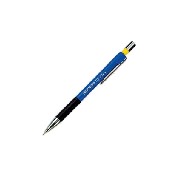 Porte-mine 0,3 mm technique rechargeable corps plastique bleu grip caoutchouc Staedtler MICRO 775 - Photo n°1