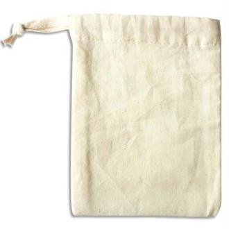 PW INTERNATIONAL Etui à telephone en coton blanc à décorer, format 110x145mm