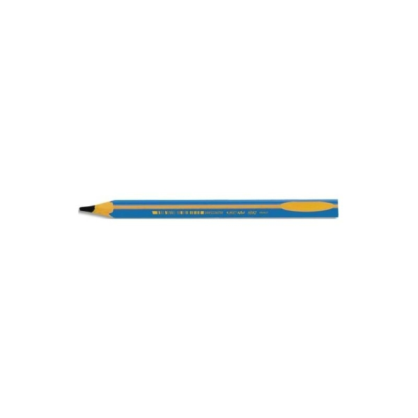 BIC Crayon graphite BEGINNERS. Mine HB 2mm. Corps bleu pour gauchers/droitiers - Photo n°1
