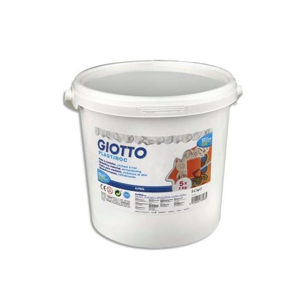GIOTTO Pack de 5 pains de 1 kg plastiroc blanc + 1 boite hermétique - Photo n°1