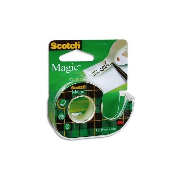 Ruban adhésif invisible Scotch Magic 810 19mm x 7,5m sur dévidoir plastique - Photo n°1