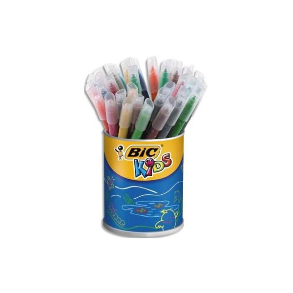 Feutre de coloriage Bic Kic couleur pointe moyenne pot de 36 feutres dessin coloris assortis - Photo n°1