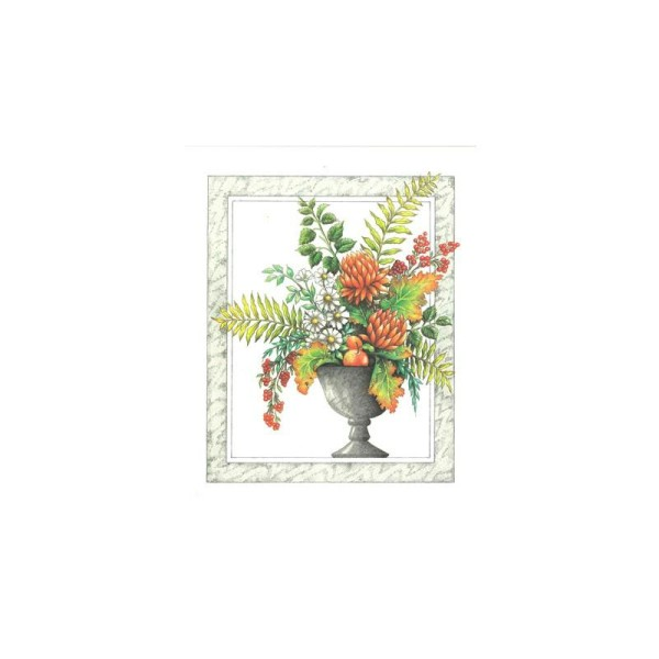 Image 3D - Ro16 - 20x25 - vase fleuri - Photo n°1