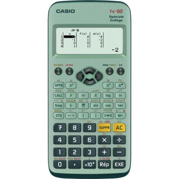 Calculatrice scientifique FX-92 Collège CASIO - Photo n°1