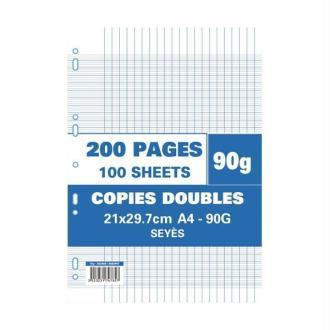 Sachet de 200 pages A4 copies doubles 90 grs seyes