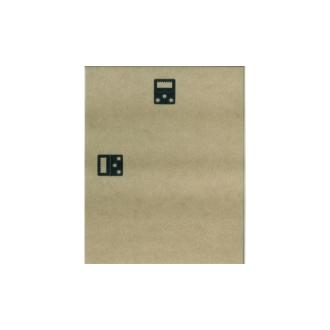 Plaque de bois 40x50 + 2 attaches