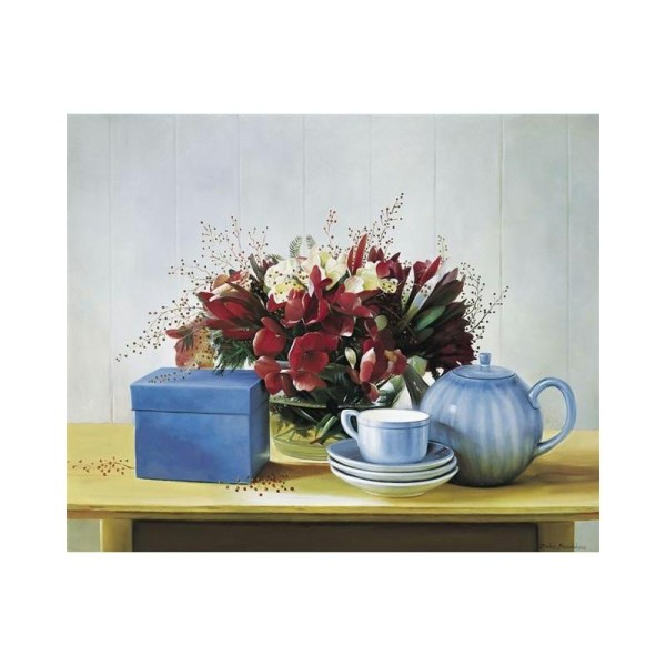 Image 3D - 0720131 - 24x30 - tasses et fleurs - Photo n°1