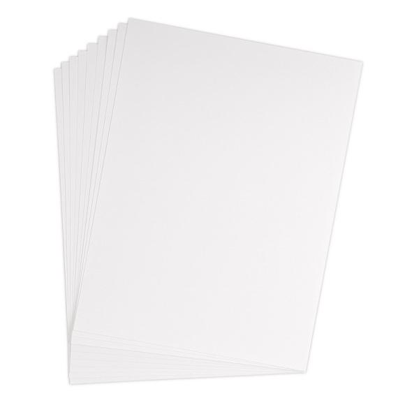 Feuille dessin à grain 50x65 cm 224g blanc - Photo n°1