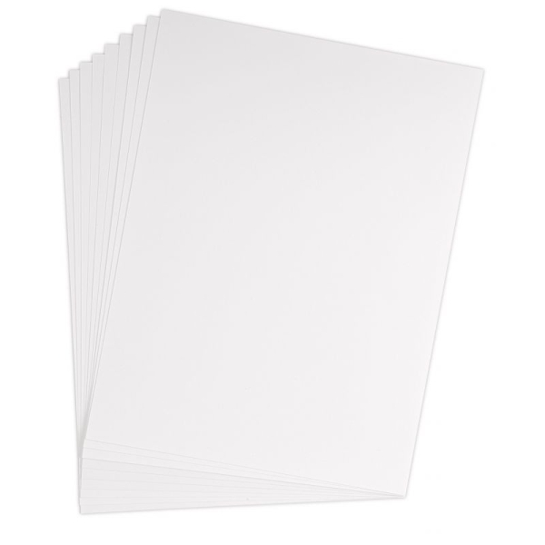Feuille bristol 205g 50x65 quadrillé 5x5 blanc - Photo n°1